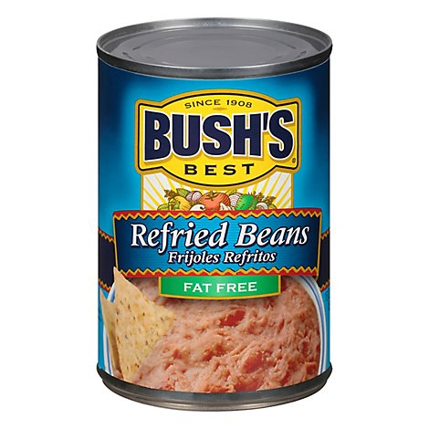 Bushs Cocina Latina Beans Refried Fat Free Vegetarian Can - 16 Oz