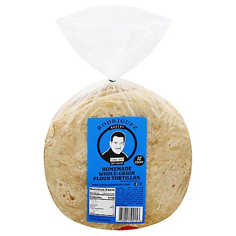 Rodriguez Bakery Toritllas Flour Whole Grain - 16 Oz