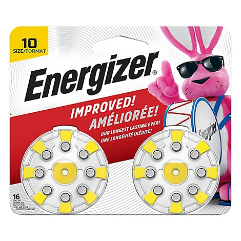 Energizer EZ Turn & Lock Hearing Aid Battery - Zinc Air - 8 Pack