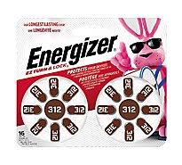 Energizer EZ Turn & Lock Hearing Aid Battery - Zinc Air - 16 Pack
