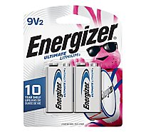 Energizer Ultimate Lithium Multipurpose Battery - 9V - Lithium - 2 Pack