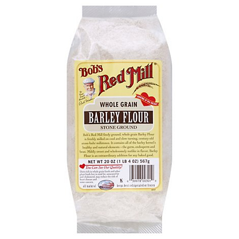 Bobs Red Mill Flour Barley Stone Ground - 20 Oz