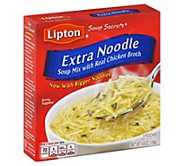 Lipton Soup Secrets Soup Mix With Real Chicken Broth Extra Noodle 2 Count - 4.9 Oz