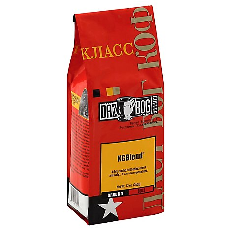 DAZBOG COFFEE Coffee Ground Bold Kgblend - 12 Oz