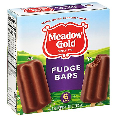 Meadow Gold Chocolate Fudge Bars - 15 Fl. Oz.