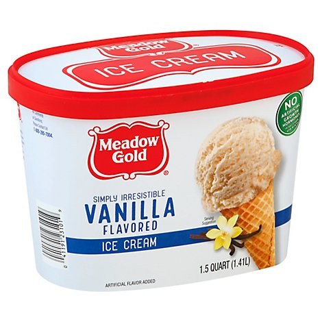Meadow Gold Ice Cream Vanilla - 1.5 Quart