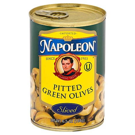 Napoleon Olives Sliced Green - 6.5 Oz