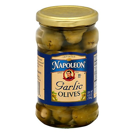 Napoleon Olives Stuffed Garlic - 6.5 Oz