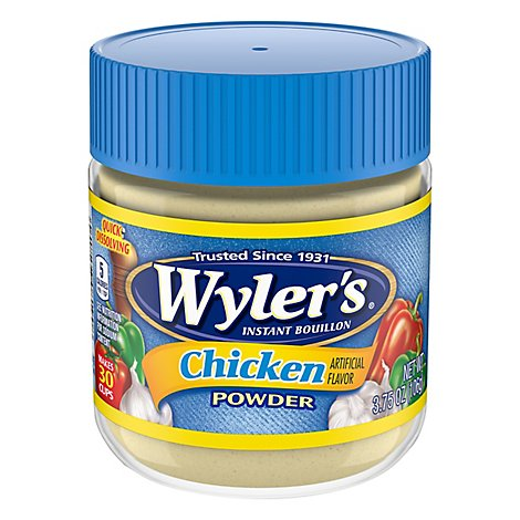 Wylers Bouillon Instant Chicken Flavor Powder - 3.75 Oz