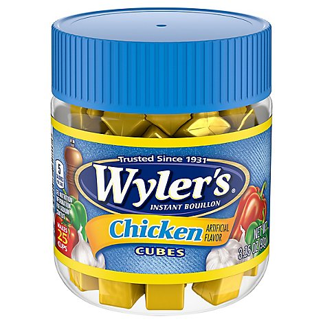 Wylers Bouillon Instant Chicken Flavor Cubes - 3.25 Oz
