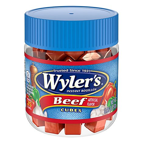 Wylers Bouillon Instant Beef Flavor Cubes - 3.25 Oz