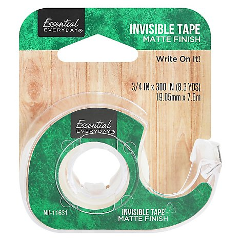 Essential Invisible Tape .75x300 In - Each