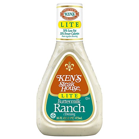 Kens Steak House Dressing Lite Buttermilk Ranch - 16 Fl. Oz.