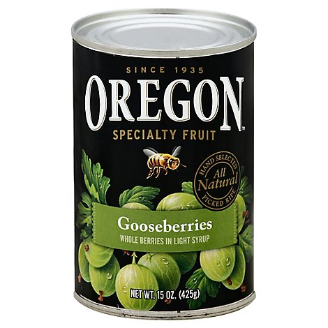 Oregon Gooseberries Whole in Light Syrup - 15 Oz