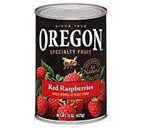 Oregon Red Raspberries Whole in Heavy Syrup - 15 Oz