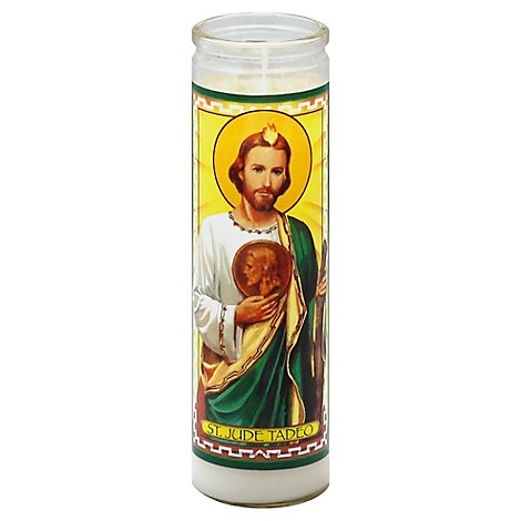 Reed Candle St. Jude Tadeo Candle Wax White Jar - Each