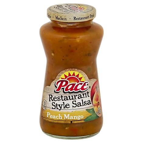 Pace Salsa Restaurant Style Peach Mango Medium Jar - 16 Oz