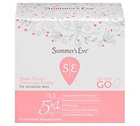 Summers Eve Sens Skin Cloths Flora - 16 Count