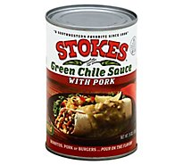 Stokes Green Chile Sauce With Pork Mild Can - 15 Oz