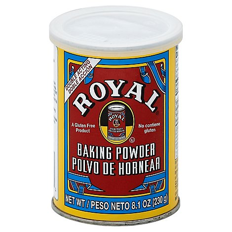 Royal Baking Powder Double Acting Gluten Free - 8.1 Oz