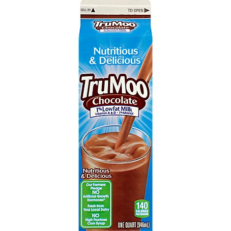 TruMoo Milk Chocolate Milk Lowfat 1% Paper - 1 Quart