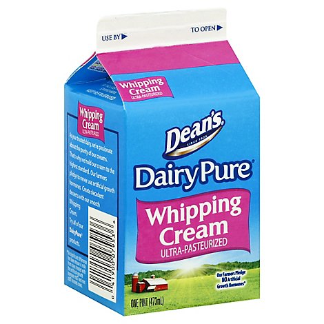 Dairy Pure Whipping Cream Heavy Cream Ultra-Pasteurized - 1 Pint