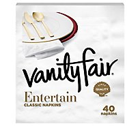 Vanity Fair Napkins Impressions 3-Ply Wrapper - 40 Count