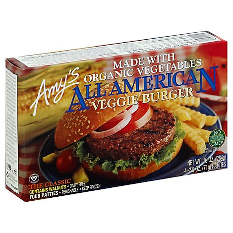Amys Burger All American Org - 10 Oz