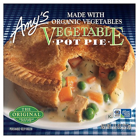 Amys Pot Pie Vegetable - 7.50 Oz