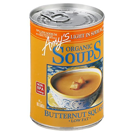 Amys Soups Organic Low Fat Light in Sodium Butternut Squash - 14.1 Oz