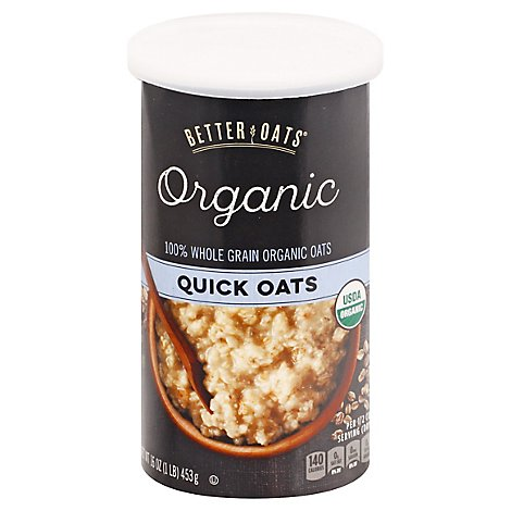 Better Oats Raw Pure & Simple Oats Organic Quick - 16 Oz