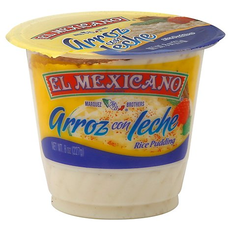 El Mexicano Arroz con Leche Rice Pudding Cup - 8 Oz