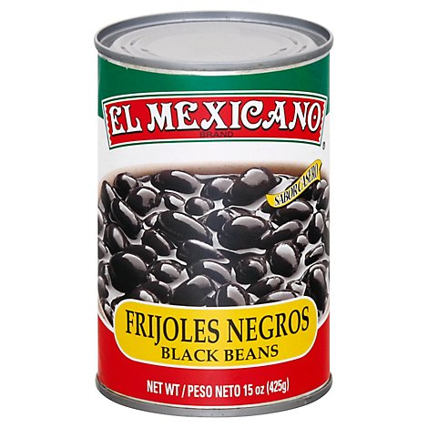 El Mexicano Beans Black Whole Can - 15 Oz