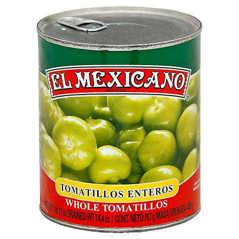 El Mexicano Tomatillo Whole Enteros Can - 26 Oz