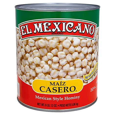 El Mexicano Hominy White Can - 10 Oz