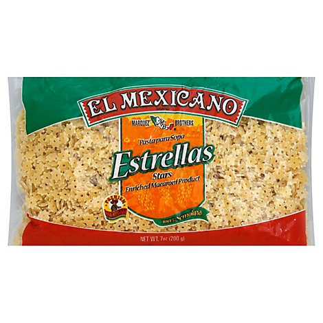 El Mexicano Pasta Star Shape Bag - 7 Oz