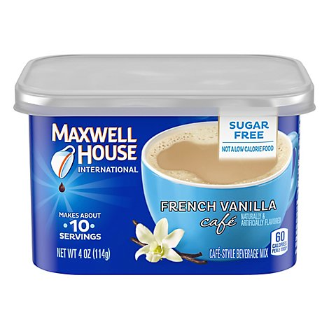 Maxwell House International Beverage Mix Cafe-Style Sugar Free French Vanilla Cafe - 4 Oz