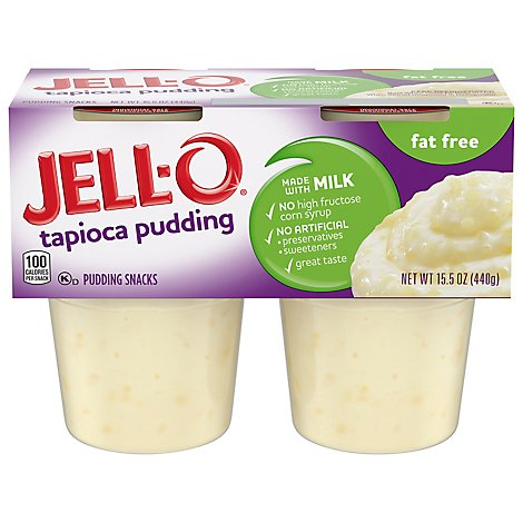 Jell- O Pudding Tapioca Fat Free - 15.50 Oz