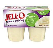 JELL-O Pudding Snacks Sugar Free Tapioca 4 Count - 15.50 Oz
