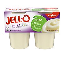 JELL-O Pudding Snacks Original Vanilla 4 Count - 15.5 Oz