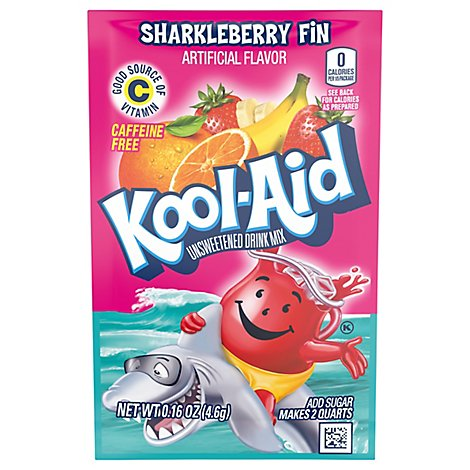 Kool-Aid Drink Mix Caffeine Free Unsweetened Sharkleberry Fin - 0.16 Oz