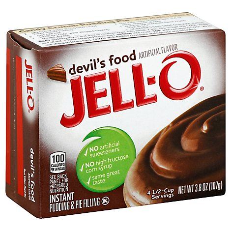 JELL-O Pudding & Pie Filling Instant Devils Food - 3.8 Oz