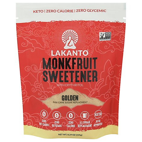 Lakanto Sweetener Monkfruit Golden - 8.29 Oz