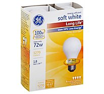 GE 72w Soft White 4pk - 3 Count