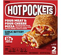 Hot Pockets Sandwiches Four Meat & Four Cheese Pizza Seasoned Crust - 2-4.5 Oz