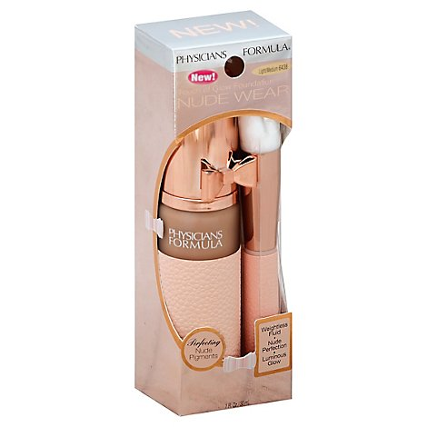 Physicians Formula Nude Wear Glow Foundation Light/Med - 0.25 Oz