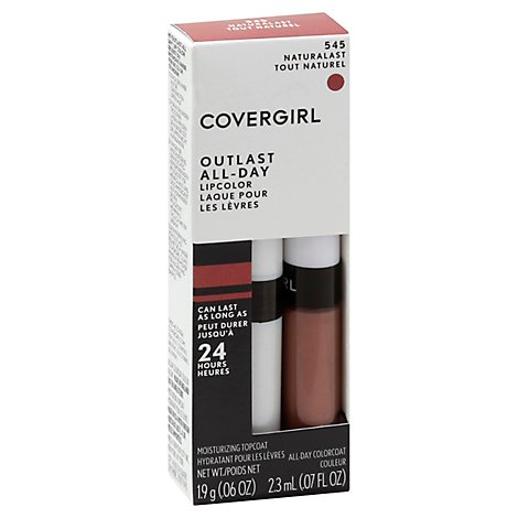 COVERGIRL Outlast Lipcolor All-Day Naturalast 545 2 Count -  0.13 Oz