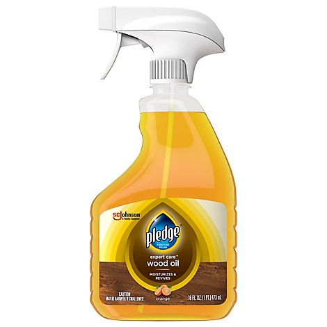 Pledge Restoring Oil Spray Orange - For Sealed & Unsealed Wood Surfaces (1 Trigger Spray) 16 oz