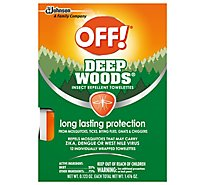 OFF! Deep Woods Towelettes with 25% DEET (12 ct)