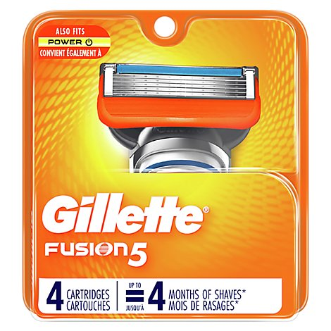 Gillette Fusion Power Cartridges - 4 Count